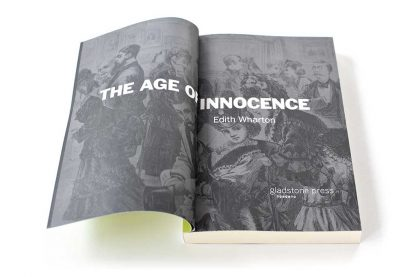 Title page for the Gladstone Press edition of The Age of Innocence by Edith Wharton
